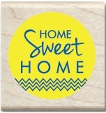 Hampton Arts - Studio G - Wood Mounted Stamp - Home Sweet Home