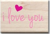 Hampton Arts - Studio G - Wood Mounted Stamp - I Love You
