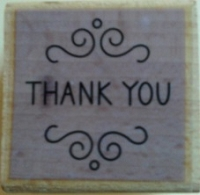 Hampton Art - Studio G - Wood Mounted Stamp - Thank You