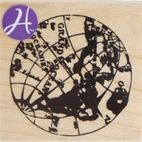 Hampton Art - 7 Gypsies - Wood Mounted Stamp - Globe