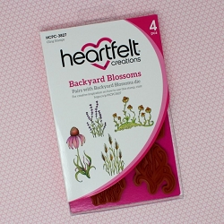 Heartfelt Creations - Backyard Blossoms Collection - Backyard Blossoms Cling Stamp Set