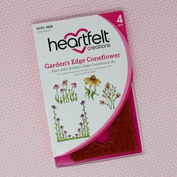 Heartfelt Creations - Backyard Blossoms Collection - Garden's Edge Coneflower Cling Stamp Set