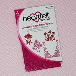 Heartfelt Creations - Cutting Die - Backyard Blossoms Collection - Garden's Edge Coneflower Die