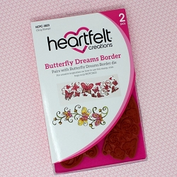 Heartfelt Creations - Butterfly Dreams Collection - Butterfly Dreams Border Cling Stamp Set