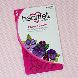 Heartfelt Creations - Cutting Die - Burst of Spring Collection - Cheery Pansy  Die