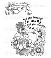 Heartfelt Creations - Farmer's Market Collection - Veggie Collage Cling Stamp Set