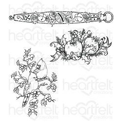Heartfelt Creations - Festive Holly Collection - Holly Berry Jingle Cling Stamp Set
