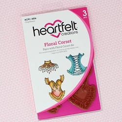 Heartfelt Creations - Floral Fashionista Collection - Floral Corset Cling Stamp Set