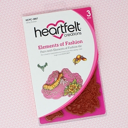 Heartfelt Creations - Floral Fashionista Collection - Elements of Fashion Cling Stamp Set