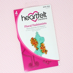 Heartfelt Creations - Cutting Die - Floral Fashionista Collection - Floral Fashionista Die