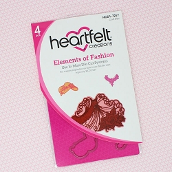 Heartfelt Creations - Cutting Die - Floral Fashionista Collection - Elements of Fashion Die