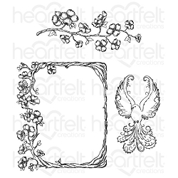 Heartfelt Creations - Flowering Dogwood Collection - Flowering Dogwood Branches Cling Stamp Set