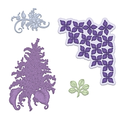 Heartfelt Creations - Cutting Die - Lush Lilac Collection - Lush Lilac Die