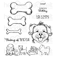 Heartfelt Creations - Pampered Pooch Collection - Pampered Pooch Paw-fect Pooches Cling Stamp Set