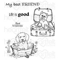 Heartfelt Creations - Pampered Pooch Collection - Pampered Pooch Cling Stamp Set
