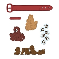 Heartfelt Creations - Cutting Die - Pampered Pooch Collection - Pampered Pooch Pals Die