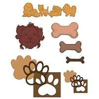Heartfelt Creations - Cutting Die - Pampered Pooch Collection - Paw-Fect Pooches Die