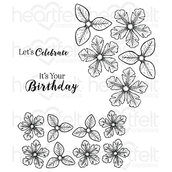 Heartfelt Creations - Classic Petunia Collection - Small Classic Petunia Cling Stamp Set