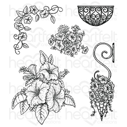 Heartfelt Creations - Classic Petunia Collection - Classic Petunia Bouquet Cling Stamp Set