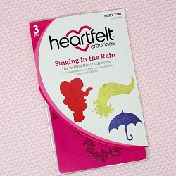 Heartfelt Creations - Cutting Die - Singing In The Rain Collection - Singing In The Rain Die