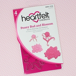 Heartfelt Creations - Cutting Die - Sweet Peony Collection - Peony Bud & Blossom Die