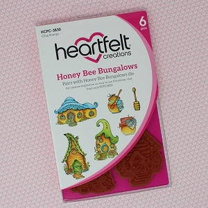 Heartfelt Creations - Sweet as Honey Collection - Honey Bee Bungalows Cling Stamp Set