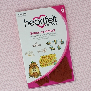Heartfelt Creations - Sweet as Honey Collection - Sweet as Honey Cling Stamp Set
