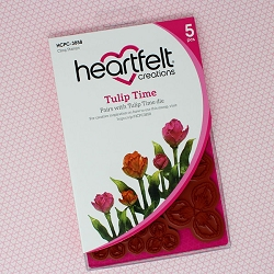 Heartfelt Creations - Tulip Time Collection - Tulip Time Cling Stamp Set
