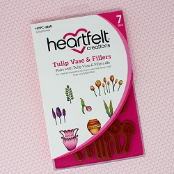 Heartfelt Creations - Tulip Time Collection - Tulip Vase & Fillers Cling Stamp Set