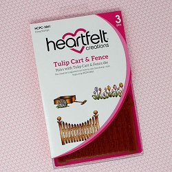 Heartfelt Creations - Tulip Time Collection - Tulip Cart & Fence Cling Stamp Set