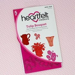 Heartfelt Creations - Cutting Die - Tulip Time Collection - Tulip Bouquet Die