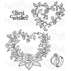 Heartfelt Creations - Classic Wedding Collection - Classic Wedding Roses Cling Stamp Set