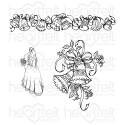 Heartfelt Creations - Classic Wedding Collection - Classic Wedding Bells Cling Stamp Set