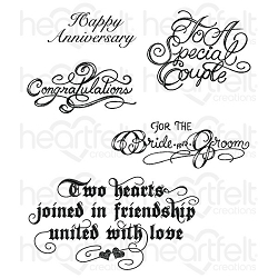 Heartfelt Creations - Classic Wedding Collection - Classic Wedding Bouquet Cling Stamp Set