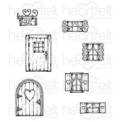Heartfelt Creations - Wildwood Cottage Collection - Wildwood Cottage Cling Stamp Set