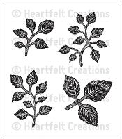 Hearfelt Creations - Cling Stamp - Bold Leaf