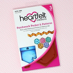 Heartfelt Creations - Buttons & Blooms Collection - Patchwork Pocket & Patterns Cling Stamp Set