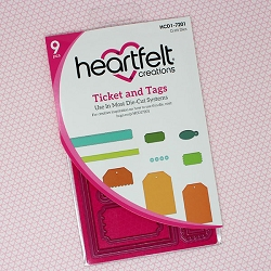 Heartfelt Creations - Cutting Die - Tickets & Tags Die