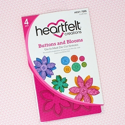 Heartfelt Creations - Cutting Die - Buttons & Blooms Collection - Buttons & Blooms Die