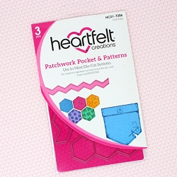 Heartfelt Creations - Cutting Die - Buttons & Blooms Collection - Patchwork Pocket & Patterns Die