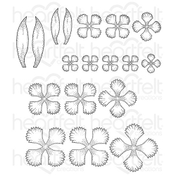 Heartfelt Creations - Camelia Carnation Collection - Small Camelia Carnation Cling Stamp Set