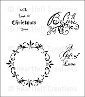 Heartfelt Creations - Christmas Card Collection - Cling Stamp - Love at Christmas