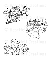 Heartfelt Creations - Cling Stamp - Feathered Friends PreCut Set