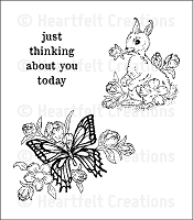 Heartfelt Creations - Cling Stamp - Butterfly & Bunny PreCut Set