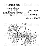 Heartfelt Creations - Cling Stamp - Melodius Songbird