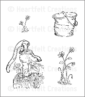Heartfelt Creations - Cling Stamp - Antique Essentials