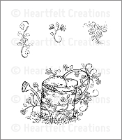 Heartfelt Creations - Cling Stamp - Vintage Watering Can