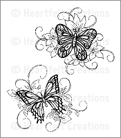 Heartfelt Creations - Cling Stamp - Butterfly Medley
