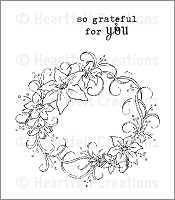 Heartfelt Creations - Cling Stamp - Botanical Oval