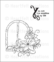 Heartfelt Creations - Cling Stamp - Botanical Window